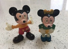 Vintage Disney 1960s Mickey & Minnie Figurines. Walt Disney Productions - $40.00