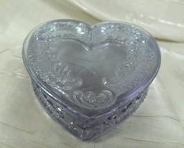 Boyd Heart Jewel Box Heather Glass Mint Trinket Box 1/22/1980 - $28.04