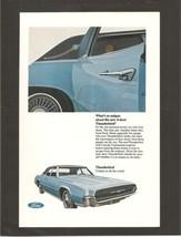 Vintage Ford Thunderbird Color Magazine Advertisement - 1967 - $8.50