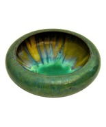 Fulper Pottery Low Bowl Cat's Eye & Crystalline Glaze - $225.00