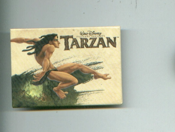 Disney TARZAN pinback button + comic book