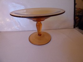 Vintage Fostoria COMPOTE Amber Pattern #2400 - $35.00