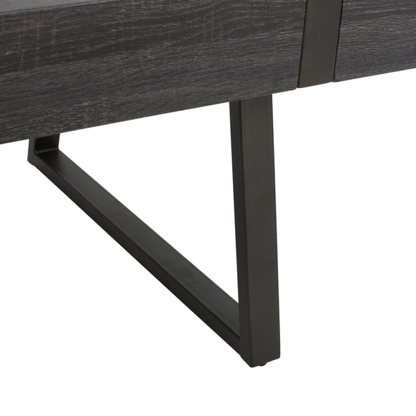 Square Rectangular Modern Dining Table Legs Industrial: Rectangle Wood Coffee Table Modern Industrial Look Metal