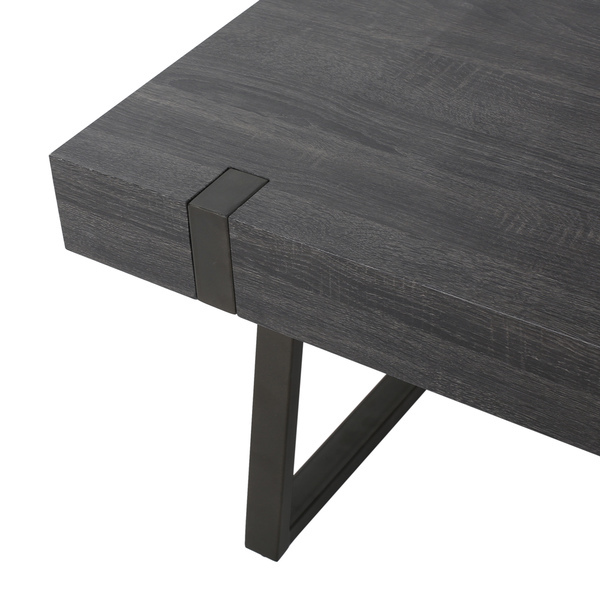 Modern Coffee Table Metal: Rectangle Wood Coffee Table Modern Industrial Look Metal