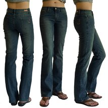 WOMENS ANTIQUE DENIM STRETCH JEANS 5834-ant SIZE:15 - $22.76