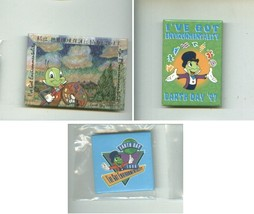 Walt Disney JIMINY CRICKET plush + pinback buttons + EARTH DAY pinocchio... - $18.00