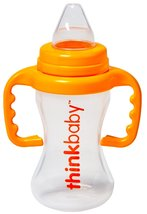 Thinkbaby BPA Free No Spill Sippy Cup, Orange/N... - $12.98
