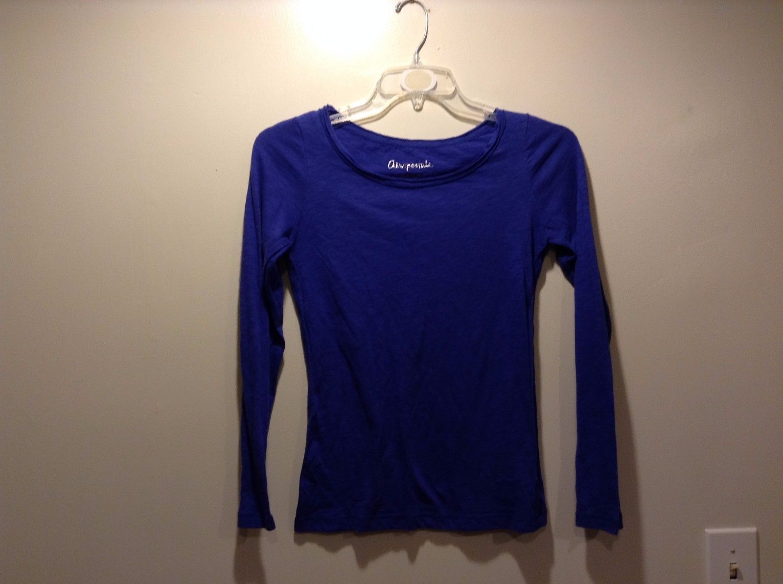Ladies Aeropostale Indigo Blue Long Sleeve Shirt Sz Medium