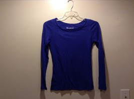 Ladies Aeropostale Indigo Blue Long Sleeve Shirt Sz Medium
