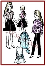 "Vintage Doll Clothing Pattern for 9"" Dolls - $5.99"