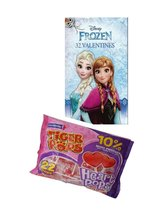 Disney Frozen 32 Valentines Day Cards and Tiger Pops Heart Pops Cherry F... - $14.69