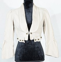 Bisou Bisou women's short blazer jacket long sl... - $24.75