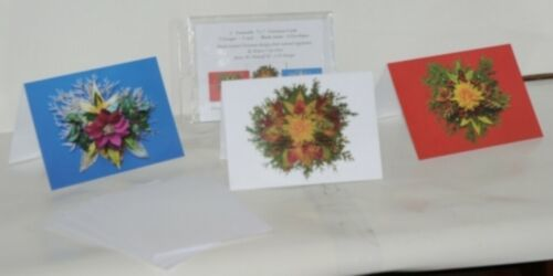Natural Beauty Christmas Frameable 5X7 Christmas Card 3 Designs Package 6
