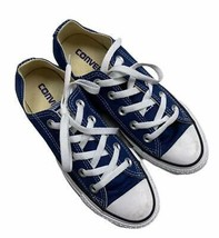 Converse Chuck Taylor Blue Canvas All Star Low Top Sneakers Lace Up Trainers 5 - $45.99