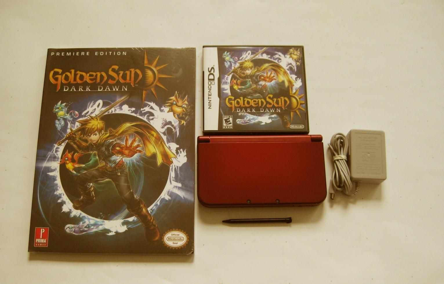 Primary image for Red Nintendo New 3ds xl w Golden Sun  & More!!!