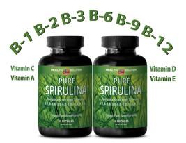 SPIRULINA 500 mg 100% Plant-Based Dietary Supplement (2 Bottles) - $21.46