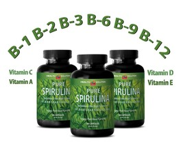 Pure SPIRULINA 100% Plant-Based Dietary Supplement (3 Bottles) - $27.07