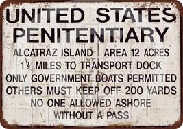 Alcatraz Prison Reproduction Metal Sign 12 x 8 ... - $12.34
