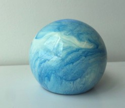 COLORFLO VINTAGE BLUE MARBLE PAPERWEIGHT 1968 EUC - $60.60