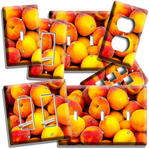 RIPE PEACHES LIGHT SWITCH OUTLET WALL PLATE KITCHEN PANTRY HOME FRUIT RO... - $8.99+
