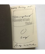 Andy Warhol Campbell's Soup Can Drawing in Philosophy of Andy Warhol 1st Ed - $6,435.00