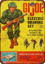 1965 GI Joe Electric Drawing Set Reproduction Metal Sign tin 8 x 12 - $12.34