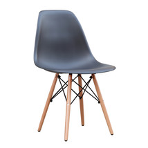 Fine Mod Imports WoodLeg Dining Side Chair, Black - $85.00