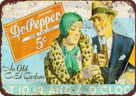 1922 Dr. Pepper Vintage Look Reproduction Metal Sign 8 x 12 made USA - $12.34