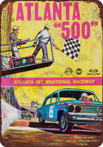 1966 Atlanta 500 Stock Car Race reproduction me... - $14.24
