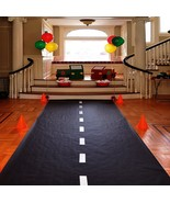 Black Polyblend Racetrack Floor Runner Nascar Racing Birthday Party Deco... - $8.83+