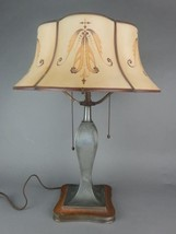 Pairpoint Curved Carmel Panel Lamp Antique - $1,500.00
