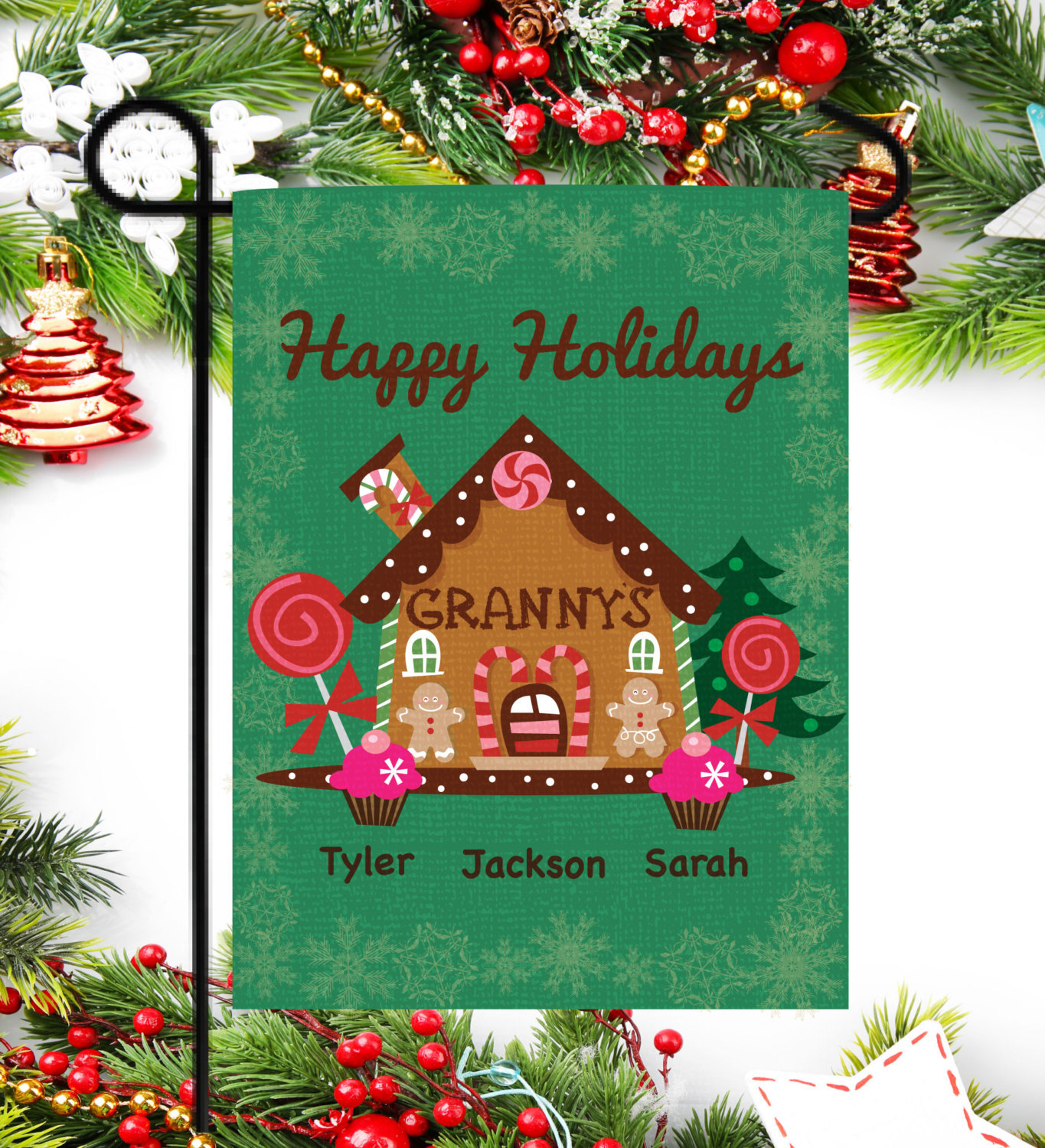 Personalized Christmas Flag Holiday Gifts Christmas