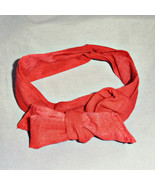 Rust Red Headband, Wired Red Headband, Womens Head Band, Hair Bows, Doll... - $9.99