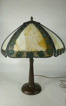 Handel Filigree Panel Lamp w/ Handled Bronze Ba... - $2,250.00