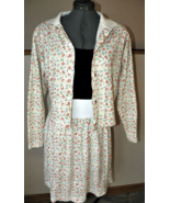CHRISTIAN DIOR 3 Piece Summer Skirt Matching Set Top & Jacket SOFT Cotto... - $65.00