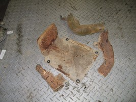 SUZUKI 1997 QUAD RUNNER 250 2X4  EXHAUST HEAT SHIELDS  PART 28,433 - $25.00
