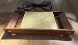 Vintage Danish Modern Teak Gold Metallic Electr... - $28.85