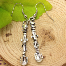 METAL GOTH SCREWDRIVER DANGLE EARRINGS    (T8) - $2.30