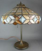 Antique Unique Art Nouveau Leaded Lamp - $3,500.00