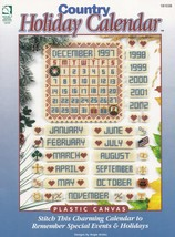 Country Holiday Perpetual Calendar, Plastic Canvas Pattern Booklet HWB 1... - $2.95