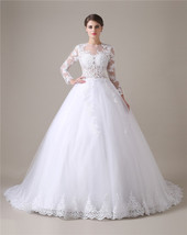 Lace Wedding Dresses Long Sleeves,Wedding Gown,Bridal Dress Gown Cheap 2017 - $219.00