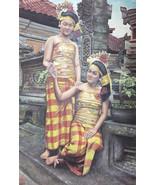 Oil Painting Original Hand Painted Medium Size Balinese Girl Women 49X32... - $530.00