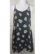 NWT Women's Dakine Hawaii Black Floral Izzy Mini Hula Skater Dress Sz L - $34.95