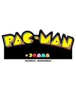 Pac-man contoured vinyl sticker 130mm x 60mm Namco Atari  - $3.01
