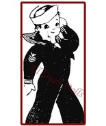 "Vintage Pattern for 12"" Cloth Sailor Doll - $5.99"
