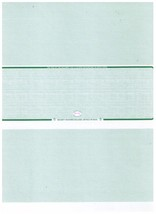 Blank Check stock with padlock icon 2500/case Middle Green Linen Safety ... - $50.80
