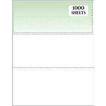 Blank Busines Checks 1000/case Green from Deluxe-compare to VersaCheck F... - $43.54
