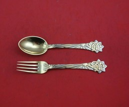 Christmas by A. Michelsen Sterling Silver Fork and Spoon Set 2pc 1910 Ve... - $503.91