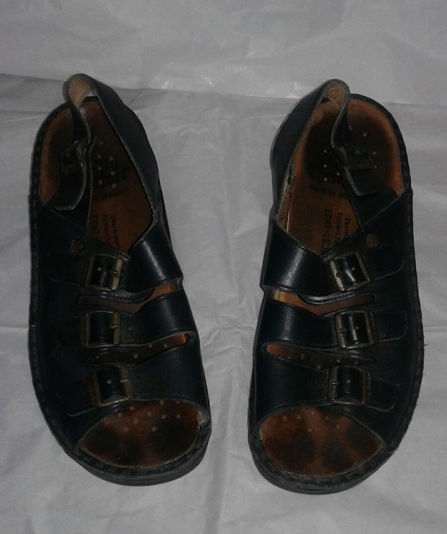 4acfa252e728 S l1600. S l1600. Previous. FINN COMFORT Ein Waldi Produkt Leather Sandals  Made in West Germany US 9  EUR40