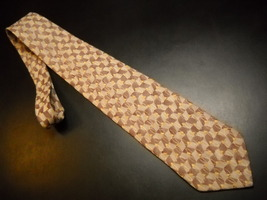 Joseph Abboud Neck Tie Design No 69228 Italian Hues of Golds and Browns Silk - $12.99